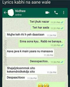 22 Trendy funny texts conversations in hindi Text Jokes, Sarcastic Jokes, Funny Jokes In Hindi, Some Funny Jokes, Crazy Funny Memes, Funny Video Memes, Funny Facts, Hilarious, Funny Humor