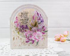 Today I would like to share a card I made using Spellbinders - Grand Dome Card designed by Becca Feeken . 3d Cards, Pop Up Cards, Die Cut Cards, Folded Cards, Becca Feeken Cards, Spellbinders Cards, Craft Day, Shaped Cards, Heartfelt Creations