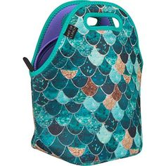 Kids' Lunch Bags - Neoprene Lunch Bag by ART OF LUNCH  Large 12 x 12 x 65 Gourmet Insulating Lunch Tote  A Partnership with Artists Around the World  Design by Monika Strigel Germany  Really Mermaid -- You can find out more details at the link of the image.