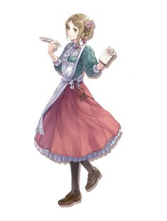 View an image titled 'Tiffani Hildebrand Art' in our Atelier Rorona: The Alchemist of Arland art gallery featuring official character designs, concept art, and promo pictures. Manga Anime, Got Anime, Manga Girl, Girls Characters, Manga Characters, Female Character Design, Character Art, Atelier Series, Anime Maid