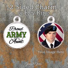 Army Proud Personalized Photo Charm or…