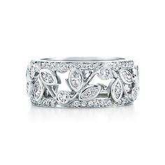Tiffany & Co. | Item | Vine band ring with diamonds in platinum. | United States
