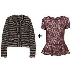 How to wear a peplum top with a cardigan #stylingtips #outfitideas