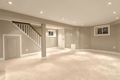 BASIC IDEA OF OVERALL LOOK: basement need lots of lighting, and lighter color choices brighten the rooms