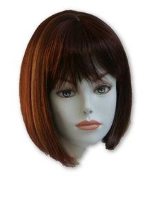 Short Straight Bob Style Wig w/Bangs -Denise Hairdo, China Doll Style