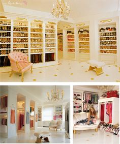 A Mariah Carey closet... but on a smaller scale for me.
