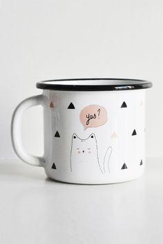 Bornn - Yes Enamel Mug