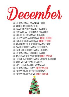 December Seasonal Life List ~Paper & Glam
