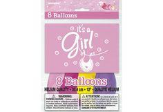 "BALLONS 12"" ""IT'S A GIRL"" (8)"
