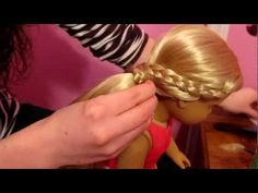 Here's how to do a cute, but casual hairstyle for your doll to wear at her Valentine's Day party! Ag Doll Hairstyles, Valentine's Day Hairstyles, American Girl Hairstyles, Casual Hairstyles, Hairdos, My American Girl, American Girl Clothes, Baby Doll Hair, Ag Hair Products