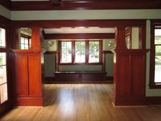 1912 Craftsman Living Room / Parlor after restoration - could we add this to separate our living room/dining room?