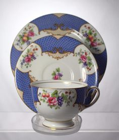 Vintage Aynsley Scala Fine Bone China Tea Cup, Saucer & Plate