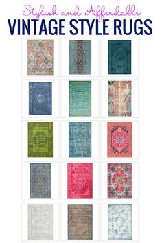 Stylish And Affordable Vintage Style Rugs area all the rage.