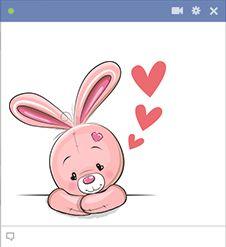 Este coelho doce tem o amor em sua mente.