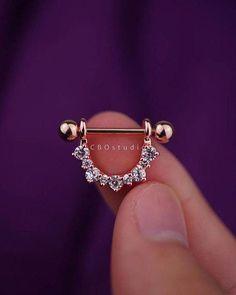 nipple ring nipple piercing nipple jewelry nipple by CBOstudio Piercing Implant, Piercing Septum, Tattoo Und Piercing, Cute Piercings, Body Piercings, Daith, Triple Cartilage Piercing, Barbell Piercing, Ear Piercings