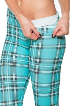 Tartan Turquoise Toasties - Black Milk Clothing