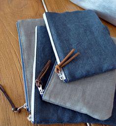 サイズ: Mサイズ H115×W170mmカラー: デニムグレー素 材: リネン内ポケットありサラっと手触りの良いリネンで使いやすい2サイズのポー...|ハンドメイド、手作り、手仕事品の通販・販売・購入ならCreema。