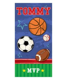 Personalized Planet MVP Sports Personalized Towel | zulily