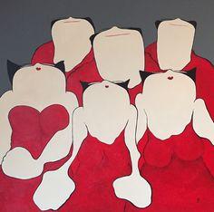 Mieke Drossaert - Sweet sensation (part 2) - Acryl - 100x100
