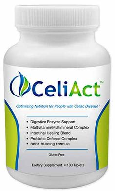 CeliAct is a nutritional supplement created just for people with celiac disease. It is certified gluten free.