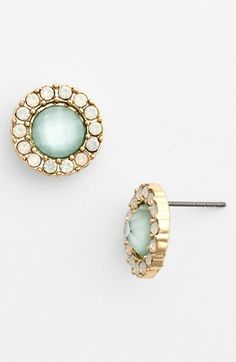 BP. Round Crystal Stud Earrings (Juniors) available at #Nordstrom