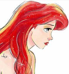 Ariel the little mermaid Disney Pixar, Film Disney, Disney Princess Ariel, Princess Art, Disney And Dreamworks, Disney Animation, Disney Characters, Disney Artwork, Disney Fan Art