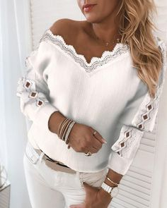 Fall Sweaters, Casual Sweaters, Trend Fashion, Womens Fashion, Sequin Sweater, Long Sleeve Sweater, V Neck, Pullover, Boutique