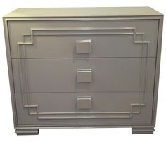 Lacquered Finish Custom Kelly Chest on Chairish.com