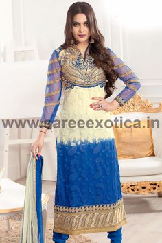 Flaunt your inner beauty wearing this beauteous designer Salwar Suit - www.sareeexotica.in