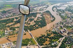 Aerial view of the floods in Magdeburg, Germany June 2013 Posted by floodlist.com