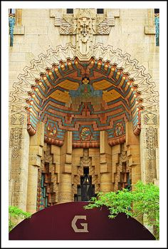 Detroit's Guardian Building Mayan Revival alcove | Flickr - Photo Sharing!