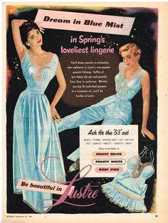 SSV Original Lustre Lingerie AD 1954 Vintage Australian Print Advertising   eBay