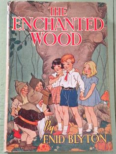 The Enchanted Wood, 1949 with dust jacket by Enid Blyton, illustrated by Dorothy M. Wheeler My favourite series. Vintage Book Covers, Vintage Children's Books, Antique Books, Enid Blyton Books, Faraway Tree, Enchanted Wood, Children's Book Illustration, Book Illustrations, Lectures