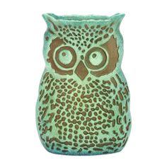 """Uma 12"""" Whimsical Owl Vase"""