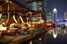 Cloud 9 Rooftop Infinity Pool - Seating Arrangement facing Ooh La La