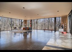 windows galore -- feel like you're outside when you're in.  (house in ferris bueller's day off)