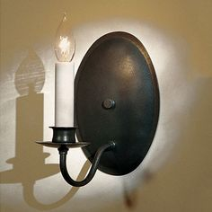 Hubbardton Forge 20-4210 Traditional Oval Back Candle Wall Sconce