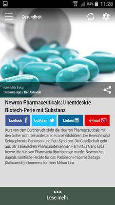 #Born2Invest: die besten Geschäfts- und Finanznachrichten aus den vertrauenswürdigen Quellen. Jetzt unsere kostenlose Android App herunterladen. #newron #pharmaceuticals #biotech #schizophrenia #parkinson #rettsyndrome