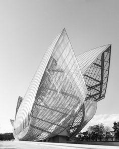 Les voiles de la fondation Louis Vuitton, dessinées par l'architecte Frank Gehry
