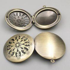 10pcs 32mm 5 Style U choose DIY zakka Antique Bronze Photo Frame Charms Pendant European style Prayer Craft Locket Box