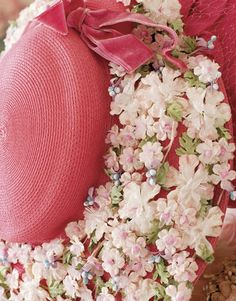 Such a pretty hat with flowers