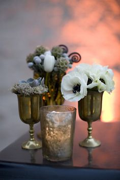 Antiqued Silver Table Decor