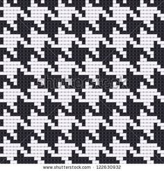 Immagine vettoriale stock 122630932 a tema Houndstooth Texture (royalty free) Tapestry Crochet Patterns, Loom Knitting Patterns, Knitting Charts, Mosaic Patterns, Cross Stitch Patterns, Graph Paper Drawings, Needlepoint Designs, Crochet Blocks, Brick Stitch
