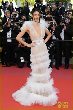 Kendall Jenner Goes Braless in Another Sheer Gown at Cannes Film Festival!