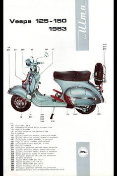 ulma accessories for vespa Vespa 125, Lambretta Scooter, Scooter Motorcycle, Motorcycle Design, Bike, Best Scooter, Scooter Girl, Triumph Motorcycles, Vespa Retro