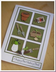 Gardening Card - made my own version, making all the componants myself!