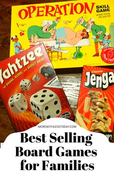 Enjoy best selling board games for families. Enjoy some screen-free fun or send one as a gift! Some of these are classics and some are the most popular sellers right now. Popular Family Board Games, Best Selling Board Games, Most Popular Games, Popular Pins, Games To Play With Kids, Kids Party Games, Family Reunion Games, Family Games, Fun Card Games