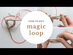 How to Knit in the Round Using Magic Loop – Knitting Socks İdeas. Magic Loop Knitting, Knitting Bear, Knitting Videos, Knitting Stitches, Knitting Designs, Knitting Projects, Knitting Socks, Knitted Hats, Knitting Patterns