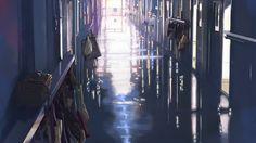 School Makoto Shinkai Hallway 5 Centimeters Per Second Hd Wallpaper