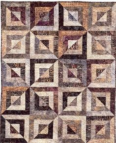 Reserved for Barbara - Batik Quilt in Blues and Browns, Batik Lap ... : batik fabric quilt patterns - Adamdwight.com